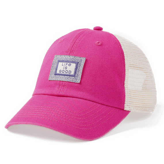 LIG Art Pattern Patch Soft Mesh Back Cap