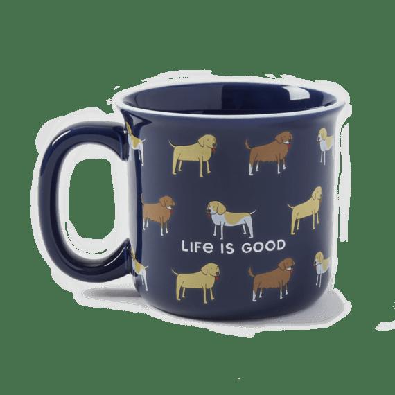 LIG Dog Print Happy Camper Mug