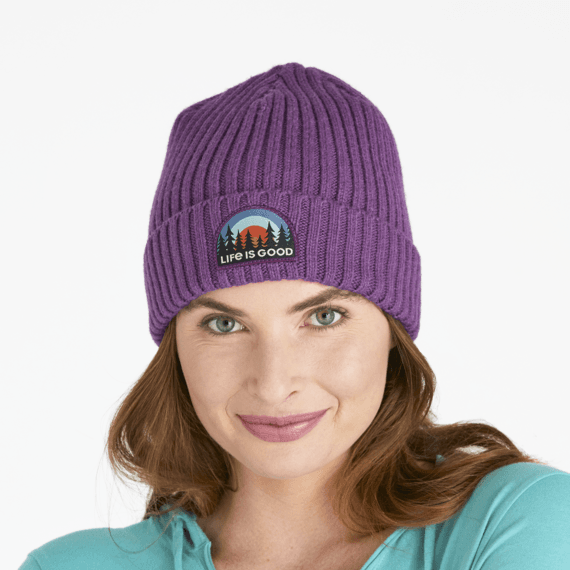 LIG Forest Sunrise Patch Toasty Groove Beanie