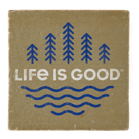 LIG Minimal Scenic Small Wooden Sign