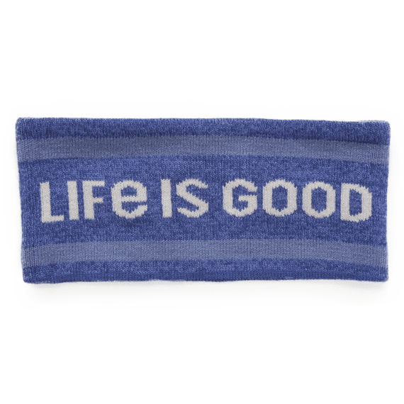 LIG Mountain Stripes Reversible Life is Good Headband
