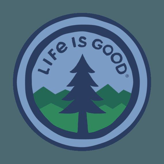 """LIG Pine 4"""" Circle Sticker"""
