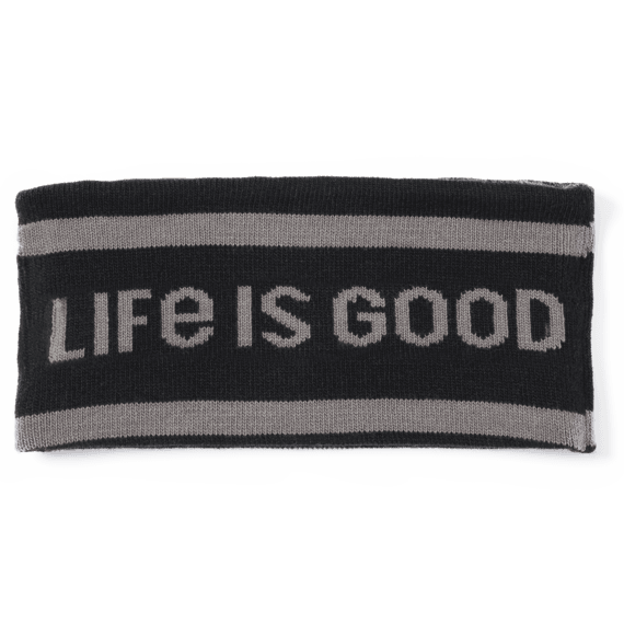 LIG Tree Stripes Reversible Life is Good Headband