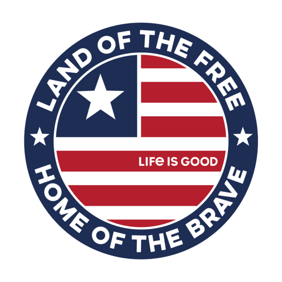 Land Of The Free Coin Small Die Cut Decal