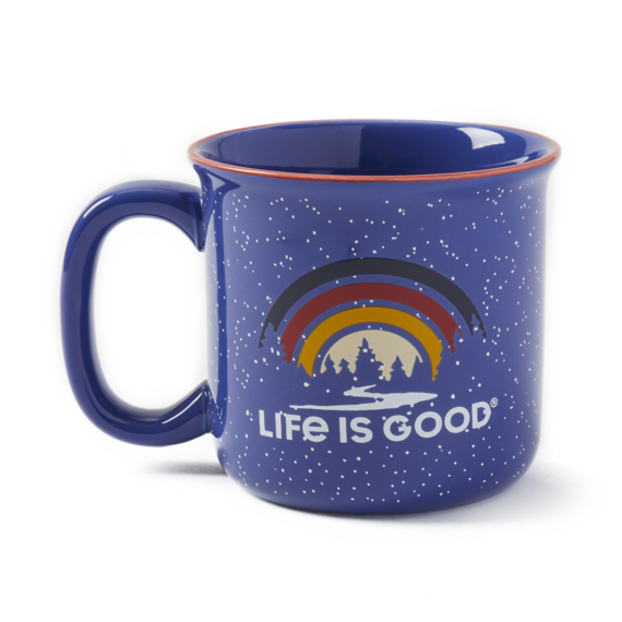 Landscape Rainbow Happy Camper Mug
