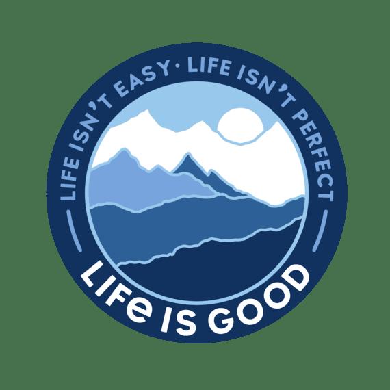 "Life Isn't Perfect Mountains 4"" Circle Sticker"