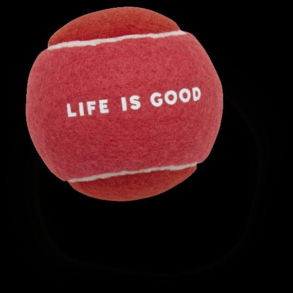 Life is Good Dog Tennis Ball