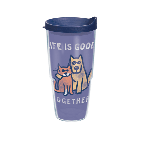 Life is Good Together Tervis Tumbler with Navy Lid, 24 oz.