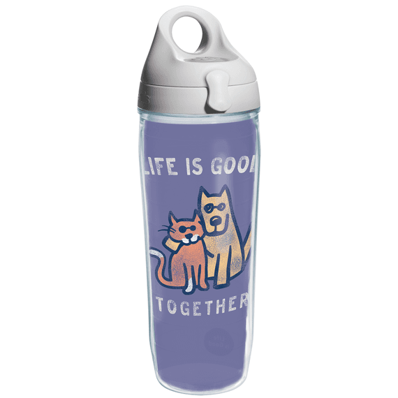 Life is Good Together Tervis Water Bottle with Grey Lid
