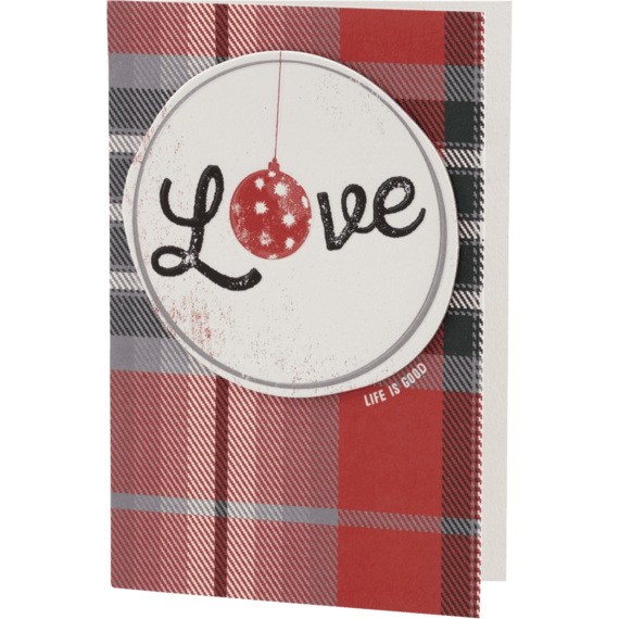 Love Ornament Holiday Card
