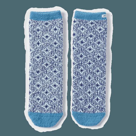Mandala Plush Snuggle Socks