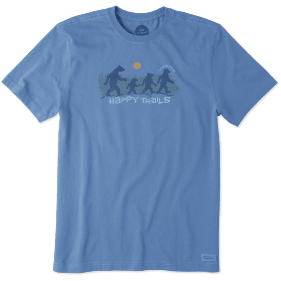 Men's  Happy Trails Bears Crusher Tee