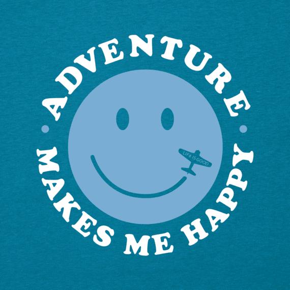 Men's Adventure Makes Me Happy Cool Tee