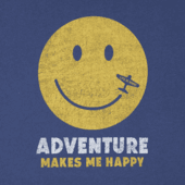 Men's Adventure Makes Me Happy Long Sleeve Smooth Tee