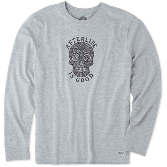 Men's Afterlife Is Good Long Sleeve Crusher Tee