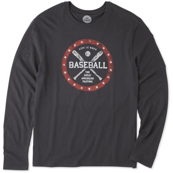 Men's American Pastime Long Sleeve Smooth Tee