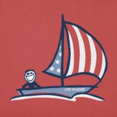 Men's Americana Sailboat Crusher Tee