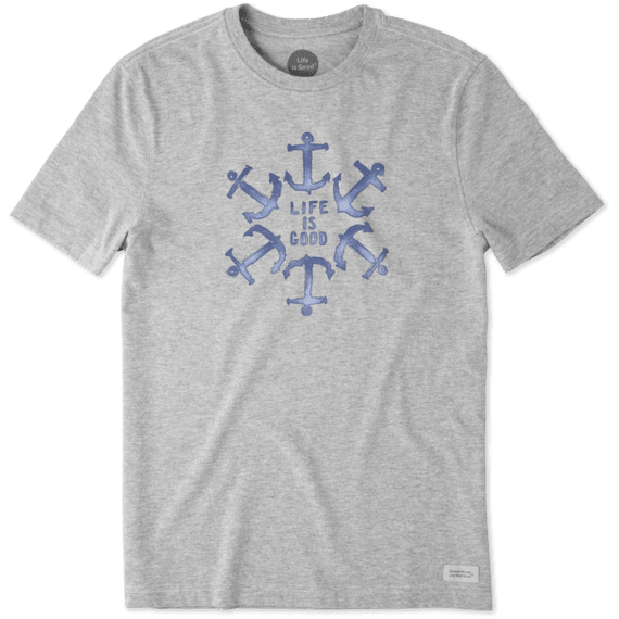 Men's Anchor Circle Life Is Good Crusher Tee