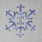 Men's Anchor Circle Life Is Good Crusher Tee