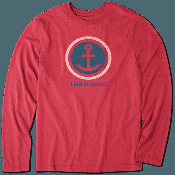 Men's Anchor Coin Long Sleeve Cool Tee