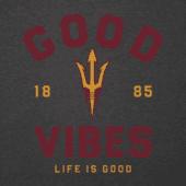 Men's Arizona State Good Vibes Arc Long Sleeve Cool Tee