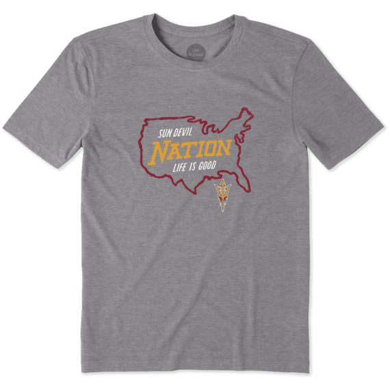 Men's Arizona State University Sun Devils Nation Outline Cool Tee