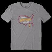 Men's Arizona State University Sun Devils Nation Outline Cool Tee