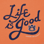 Men's Auburn Tigers Flourish Lig Cool Tee