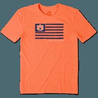 Men's Auburn Tigers Team Flag Cool Tee