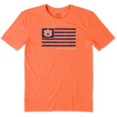 Men's Auburn Tigers Team Flag Cool Tee