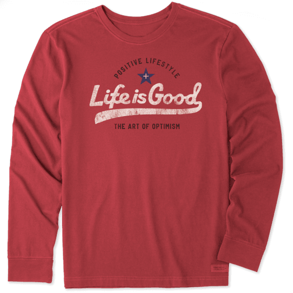 Men's Ballyard Positive Lifestyle Long Sleeve Crusher Tee