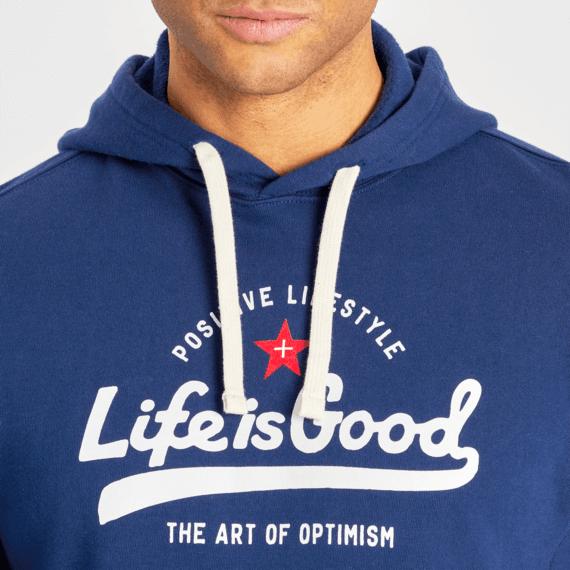 Men's Ballyard Positive Lifestyle Simply True Fleece Hoodie