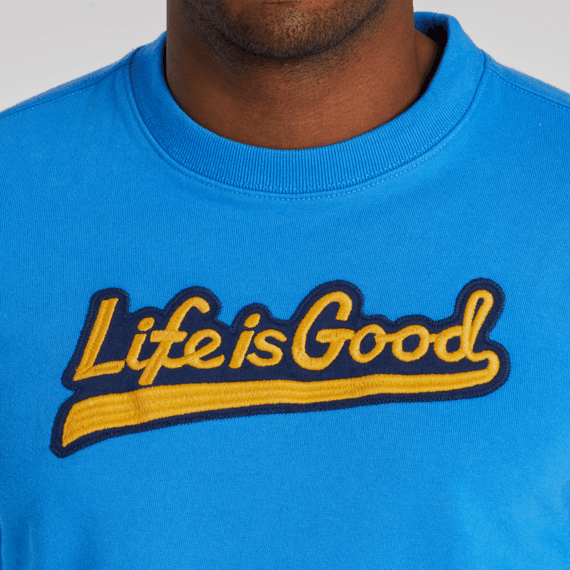 Men's Ballyard Script Simply True Fleece Crew