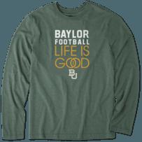 Men's Baylor Bears Infinity Football Long Sleeve Cool Tee