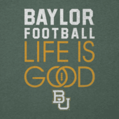 Men's Baylor Bears Infinity Football Long Sleeve Cool Tee