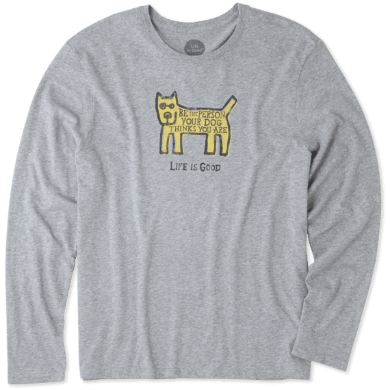 Men's Be The Dog Rocket Long Sleeve Smooth Tee