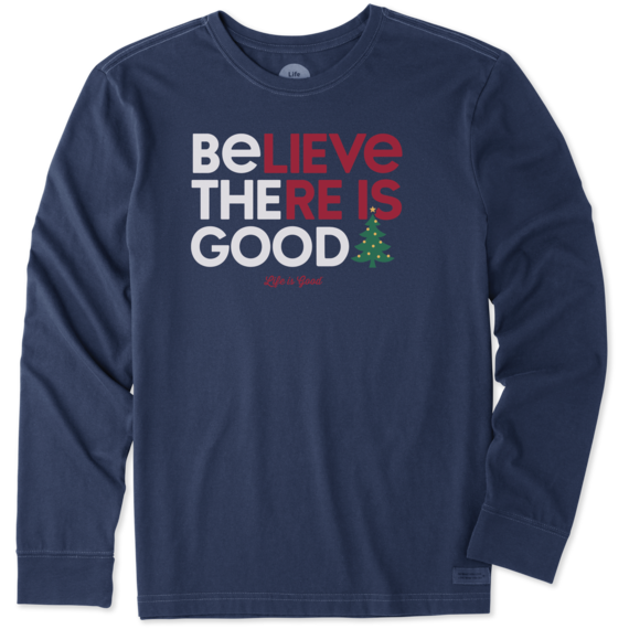 Men's Be the Good Tree Long Sleeve Crusher Tee