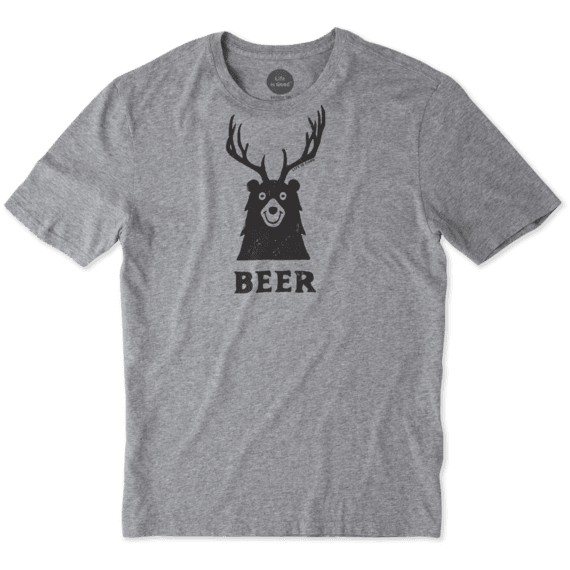 Men's Bear + Deer = Beer Smooth Tee