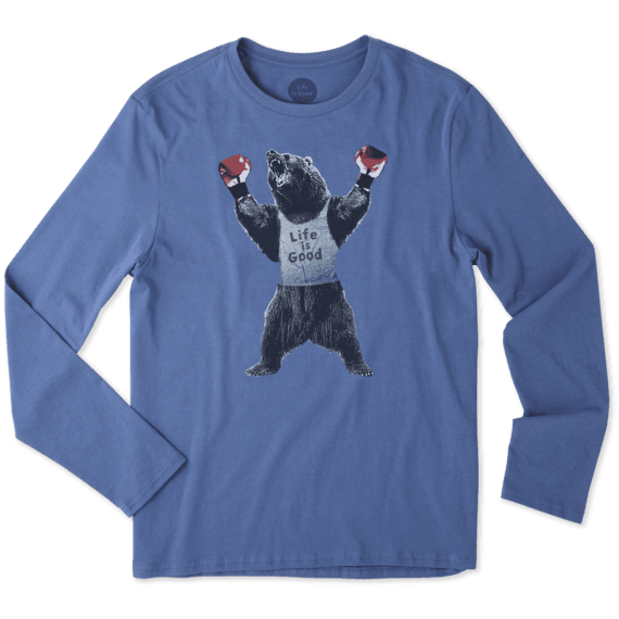 Men's Bear Boxer Long Sleeve Smooth Tee