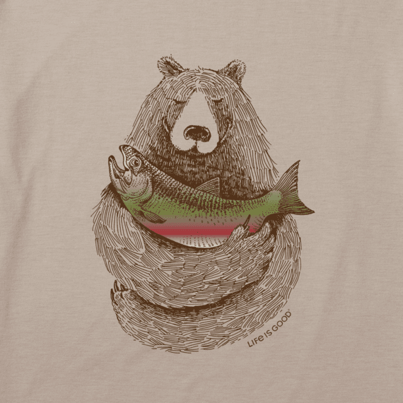Men's Bear Cradling Dinner Cool Tee
