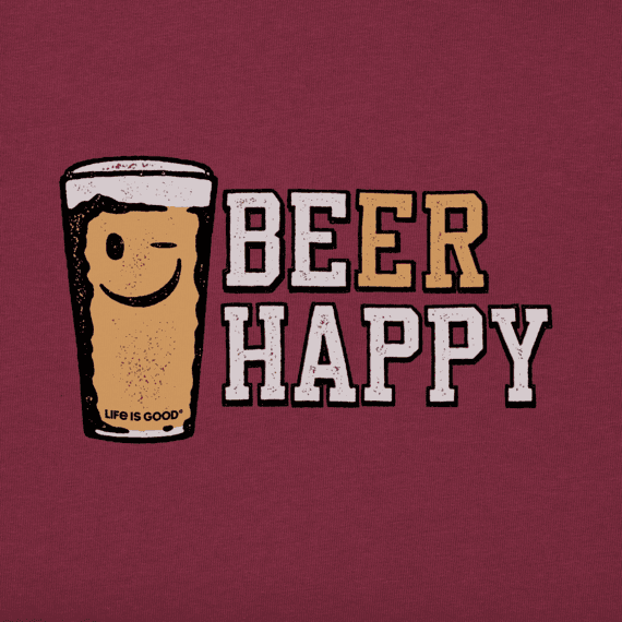 Men's Beer Happy Crusher Tee