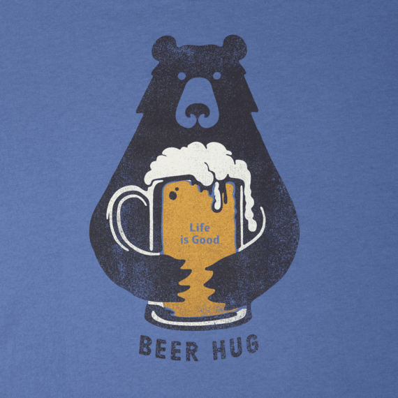 Men's Beer Hug Long Sleeve Smooth Tee
