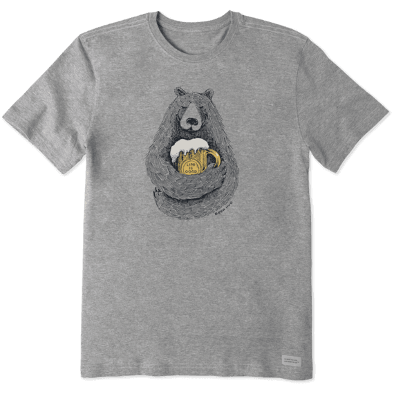 Men's Beer Hug Sketch Crusher Tee