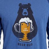 Men's Beer Hug Vintage Sport Long Sleeve