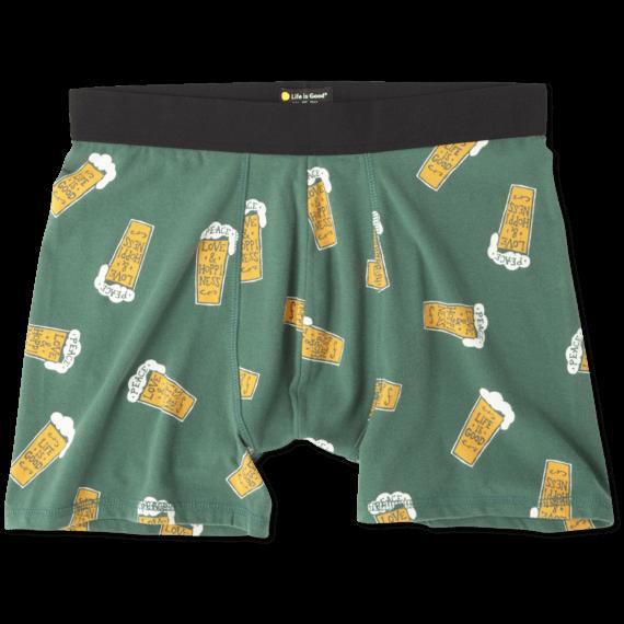 Men's Beer Life Is Good Classic Boxer Briefs