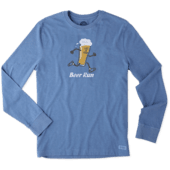 Men's Beer Run Long Sleeve Crusher Tee