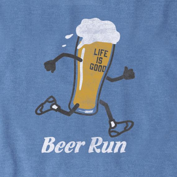 Men's Beer Run Long Sleeve Crusher Tee