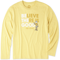 Men's Believe There Is Good Long Sleeve Cool Tee