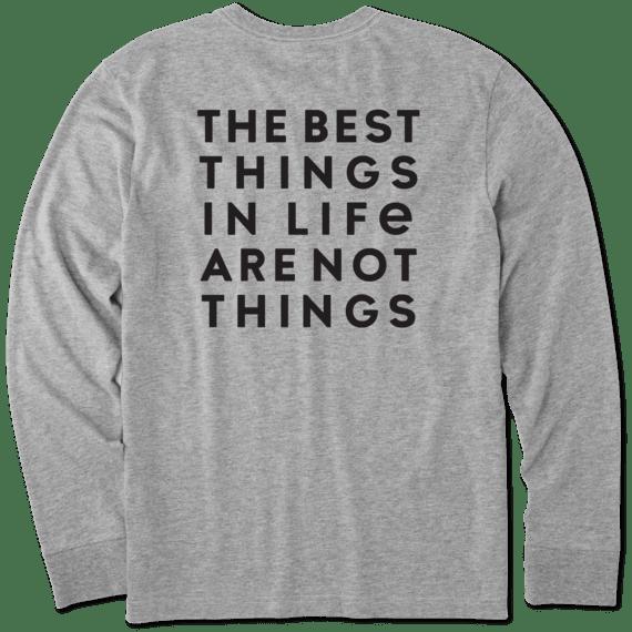 Men's Best Things Long Sleeve Crusher Tee