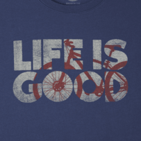 Men's Bike Life is Good Smooth Tee